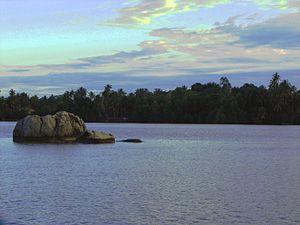 Bentota River in Dharga, Sri Lanka.