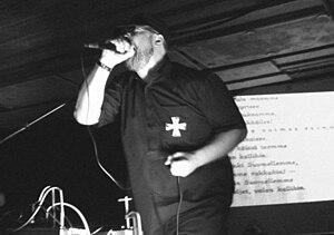 Español: Mikko Aspa vocalista de Clandestine Blaze