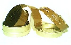 Double Super 8 spool, movie film