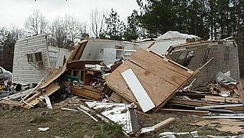 Home struck by F2 tornado