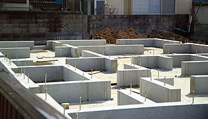 Foundation for a new house