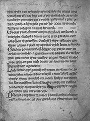 Y Gododdin Manuscript