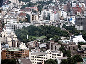 Keio University as seen from Tokyo Tower