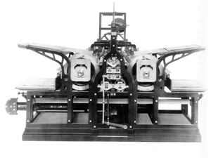 Koenig's 1814 steam-powered printing press