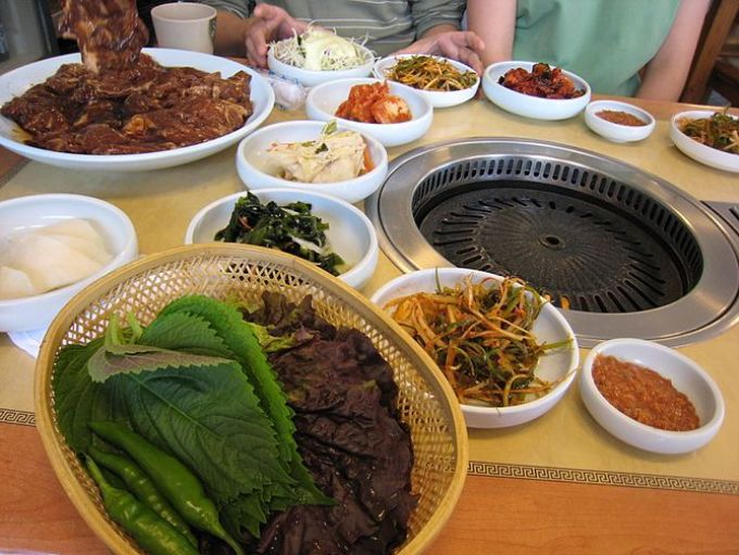 Galbi (grilled rib), a Korean bbq