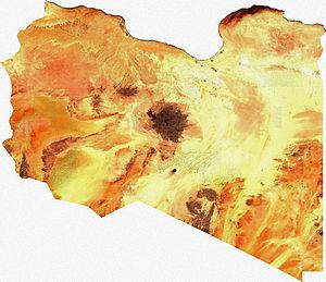 Satellite image of Libya, generated from raste...