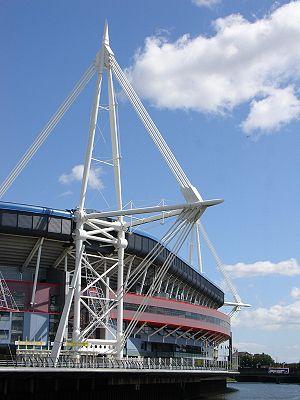 The Millennium Stadium, Cardiff (Welsh: Stadiw...