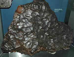 Murnpeowie meteorite, a thumbprinted iron mete...