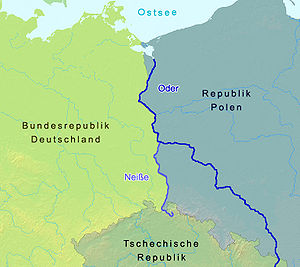 English: Border line between Germany and Polan...