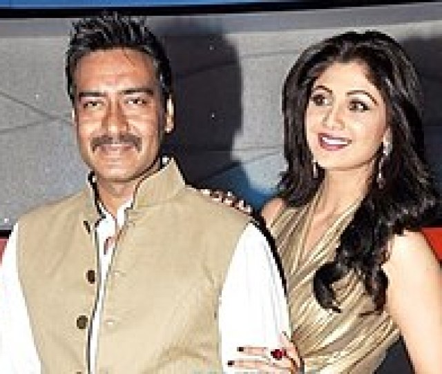 Shetty With Ajay Devgan On Sets Of Nach Baliye