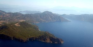 Turkish coastline near Dalaman, behind the pen...