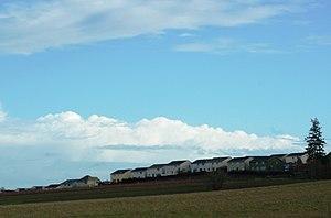The urban growth boundary edge at Bull Mountai...