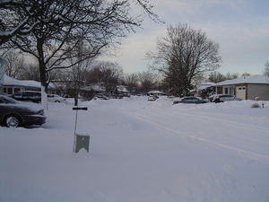 A street in Brampton after a 2-day 10-15cm → 1...
