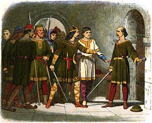William de Breteuil stands guard over the trea...