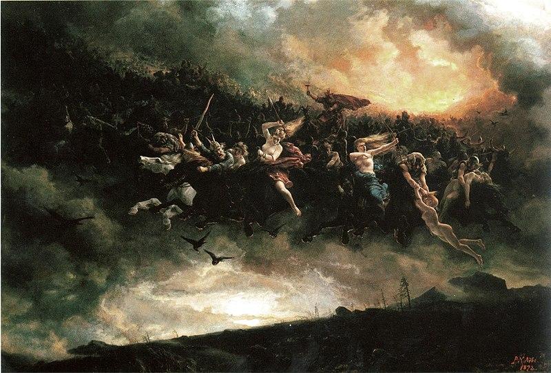 Peter Nicolai Arbo (Norway 1831 -1892) Asgardreien