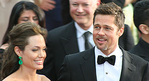 Actors Angelina Jolie and Brad Pitt at the 81s...
