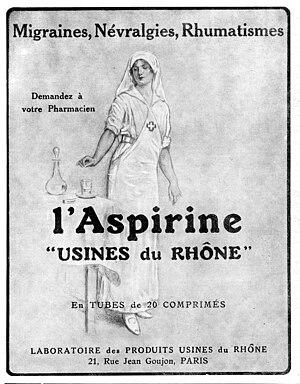 Aspirine Usines du Rhône : advertisement of 19...