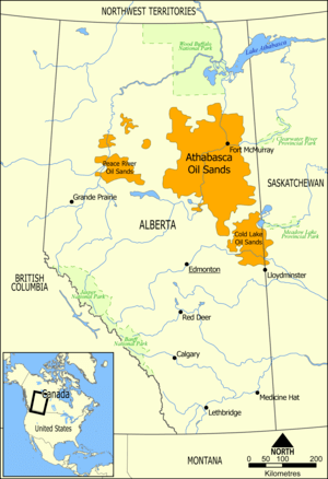 "Location of bitumen depoits (""tarsands&qu..."