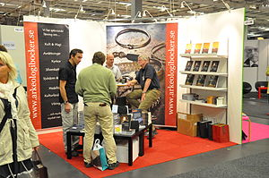 Corner exhibition stand at the Göteborg Book F...