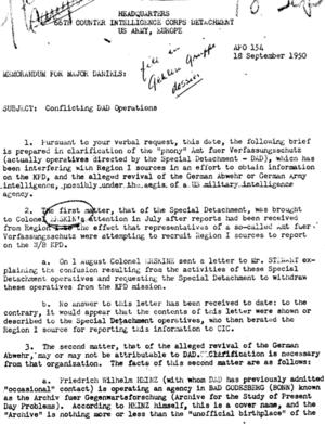 Deutsch: US-Army-Bericht von 1950 über den von...