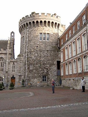One of the surviving medieval towers at Dublin...
