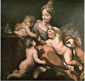 Dipinto del pittore Domenico Piola raffigurant...