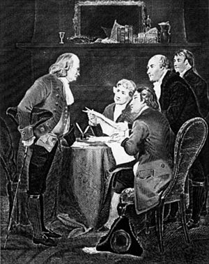 English: Drafting of the Declaration of Indepe...