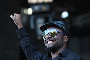 will.i.am performing with Black Eyed Peas at O...
