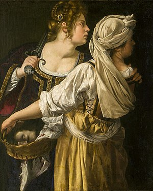 Judith and her Maidservant (1613-14) Oil on ca...