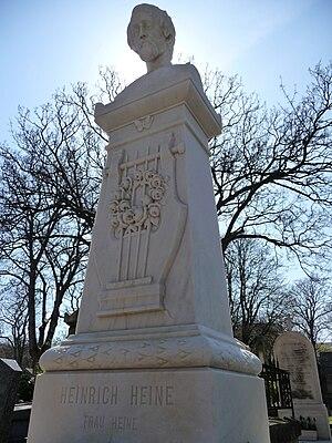 English: Heinrich Heine grave in Montmartre Paris.