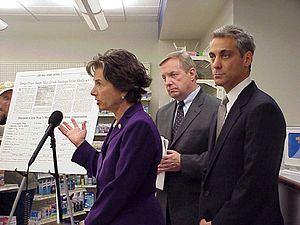 Rahm Emanuel (right) and Senator Dick Durbin (...