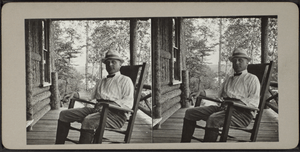 Man in a Rocking Chair, from Robert N. Dennis ...