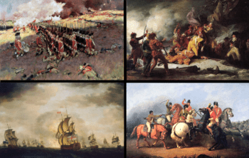 English: A collage of American Revolutionary W...