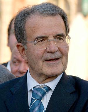 English: Romano Prodi during the commemoration...
