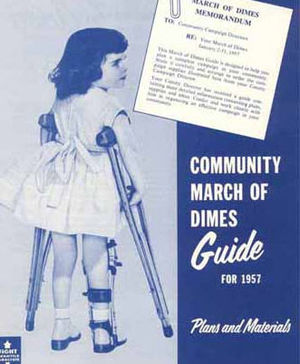 March of Dimes poster circa 1952