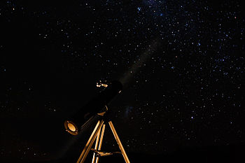 Telescope and night sky