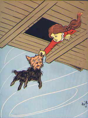 Caption: She caught Toto by the ear. An illust...
