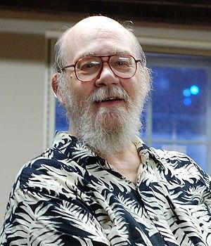 English: Photo of science fiction author Thoma...