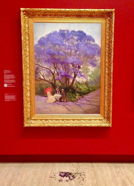 """Under the Jacaranda"" by R Godfrey Rivers - Queensland Art Gallery"