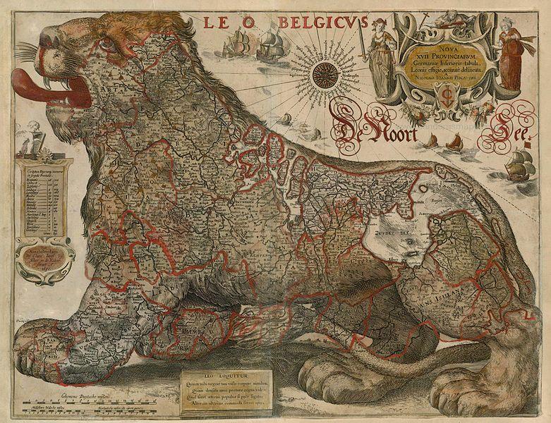 File:Antique map of Leo Belgicus by Visscher C.J. - Gerritsz 1630.jpg