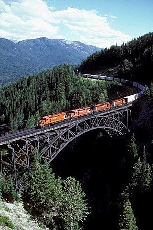 A Canadian Pacific Railway freight eastbound o...