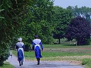 Femmes amish dans le comté de Lancaster