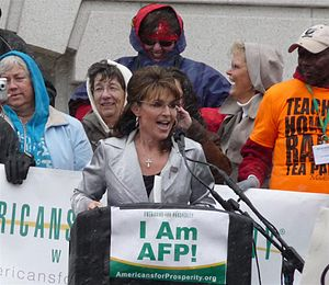 English: Sarah Palin at the Americans for Pros...