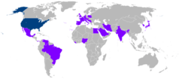 English: Foreign trips of Jimmy Carter during ...