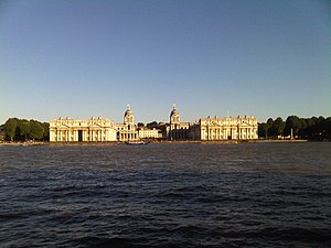 University of Greenwich from Isle of Dogs