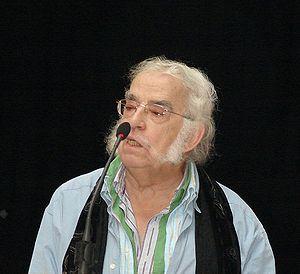 Español: Agustín García Calvo durante la charl...