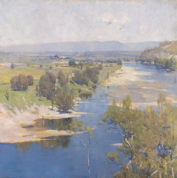 """""""The Purple Noon's Transparent Might"""" by Arthur Streeton"""