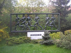 Memorial to the oldest annual running race in ...