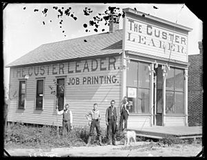 Newspaper printing office of The Custer Leader