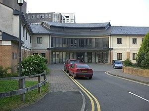 English: Bronglais hospital New entrance at Br...